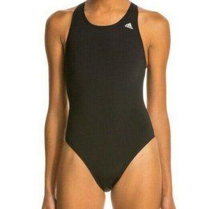 Adidas NWT One Piece Swim Suit Water Polo Lifeguard Black SPF Size XL 34